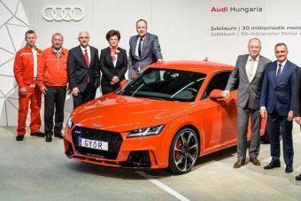 Egymillió Audi, ötmilliárd lóerő Győrből