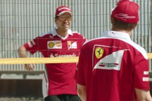 F1: Vettel és Räikkönen a strandon ugrált – videó