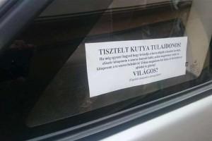 Így üzen egy agresszív magyar autós