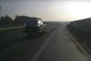 Subaru így még nem előzött autópályán