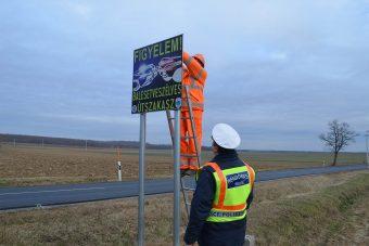 Új táblákat helyezett ki a rendőrség