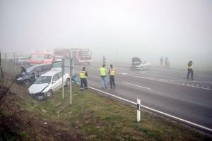 Tíz autó ütközött az M1-esen