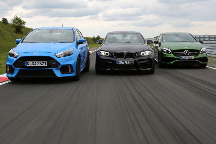 Versenypályán az M vezet, rossz úton az AMG, kezelhetőségben pedig az RS van az élen