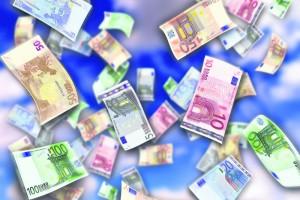 Pénz hullott egy német autópályán