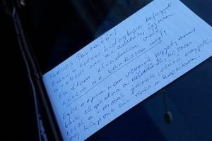 A nap szívbemarkoló üzenete egy pesti autóstól