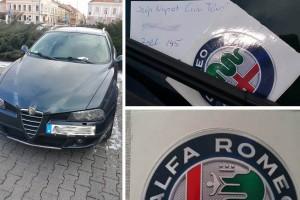 Meglepő cetlit kapott szélvédőjére egy Alfa Romeo-tulaj