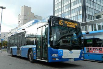Biogázzal hajtják a buszokat a finn fővárosban
