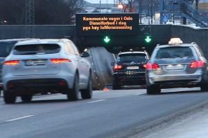 Norvégiában betiltották a dízelautókat