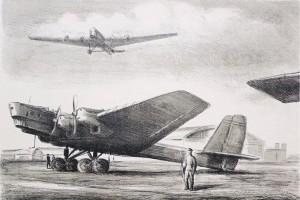 Művészi rajzokon az orosz repülés történelme