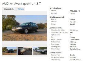 Hányingere van, eladja autóját a magyar audis
