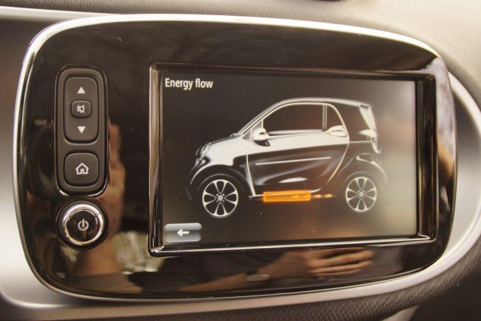 Kötelező motívum minden elektromos autóban: energiaáramlási animáció