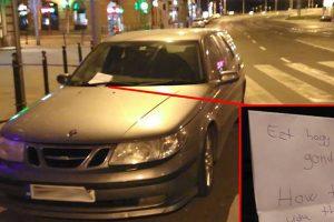 Zebrára parkolt Budapesten, cetlivel büntették