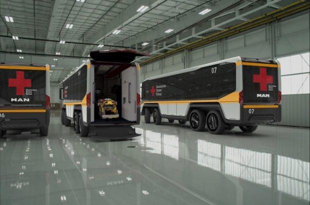 Spéci mentőbusz Németországból
