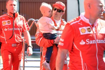 Räikkönen kisfia a Forma-1-es paddockban
