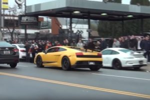 Vagánykodott a Lamborghinivel, csúnyán beégett