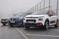 Összehasonlító teszt: Citroën C3-Škoda Fabia-Suzuki Baleno
