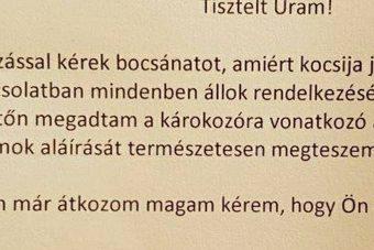 Az év jó fej üzente egy magyar szélvédőn
