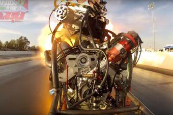 Ilyen közelről még nem láttál motort szétrobbanni