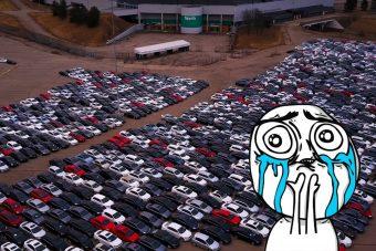 Szomorú látvány: itt tárolja a VW a dízelbotrány miatt visszavett autókat