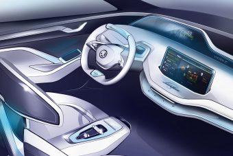 Ilyen modern Škoda-belsőt sem láttál még