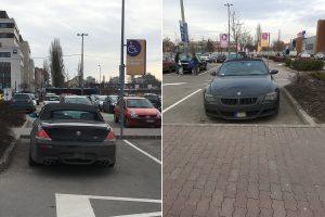Itt egy csokor tuskó, akik nem tudják, hogyan kell parkolni