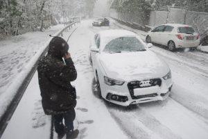 Fotókon a kaotikus, áprilisi budai hóhelyzet