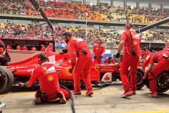 F1: Tarolt a Ferrari az edzésen