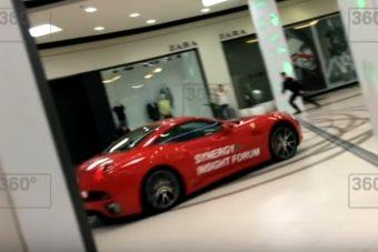 Ferrarival filmezték le a volt polgármestert