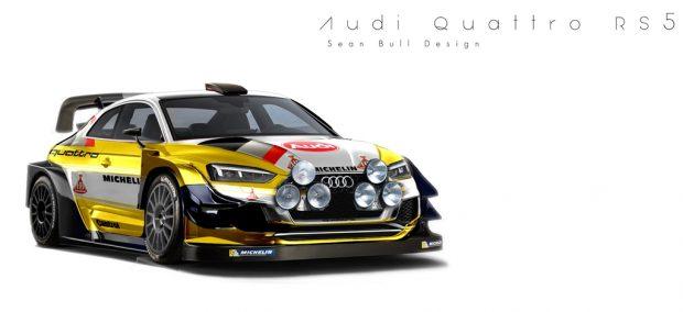 A rally legendás B csoportjának egyik ikonikus szereplője volt az S1-es. Ezzel a brutális öthengeres géppel alapozta meg máig fényes hírnevét az Audi és a sárga-fehér ruházat meg az éjszakai lámpasor meglepően jól mutat az új A5-ösön.