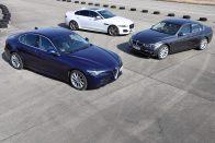 Közös teszt: Alfa Giulia 2,2 D 180-BMW 325d-Jaguar XE 2.0D 180