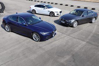 Mire megy az Alfa Giulia a 3-as BMW-vel és a Jaguar XE-vel?