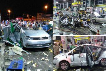 Pokoli robbanás rázta meg a brazil benzinkutat
