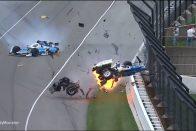 Horrorbaleset az Indy 500-on, áll a futam – videó