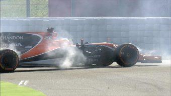 F1: Alonso égett a hazai edzésen