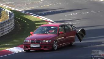 Szétkapta a szél a Nürburgringen csapató BMW-t