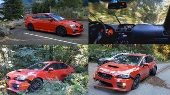 Szalonillatú, új Subaru Impreza WRX STi tört ropira egyértelmű vezetői hibából