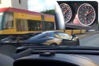 Közveszélyes farokméregetés – 200 felett tolta a Lamborghini-BMW páros a városban