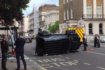 Meglepő vége lett ennek a londoni balesetnek