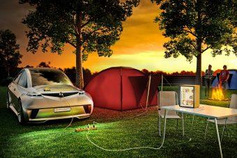 Elektromos autóba dugott hűtőszekrény: ez a jövő!