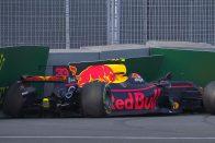 F1: Verstappen balesete zárta a szabadedzést – videó