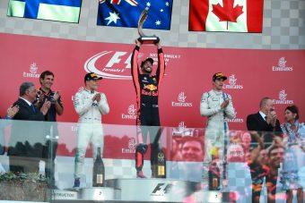 F1: Red Bull-győzelem, újonc a dobogón a bakui káoszfutamon