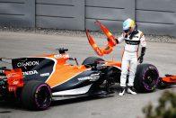 F1: Alonso 330 helyet bukott a Hondával