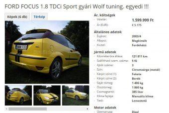 Eladó használt Ford Focus, ami veri a japánokat és a Golfokhoz képest WRC
