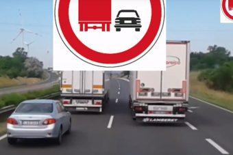 Kicsit kiakadt egy magyar kamionos, videót is készített róla