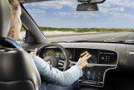 Kézmozdulatokkal irányítható kijelző autóba