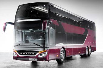 Megérkezett a Setra csúcskategóriás emeletes busza