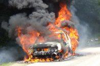 Tűz az M1-es autópályán