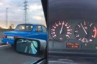 140 km/óránál simán előzött a Wartburg az autópályán