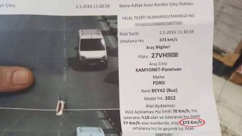 373 km/órával fotózta le a török traffipax ezt a Fordot, retteghet a Bugatti Chiron?