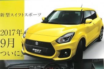 Kiszivárgott a Suzuki Swift Sport katalógusa